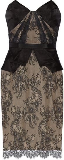 Notte By Marchesa Lace and Organza Dress - Lyst