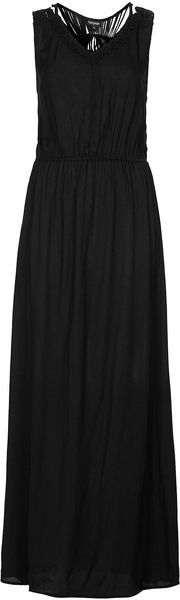Topshop Black Macrame Back Maxi Dress - Lyst