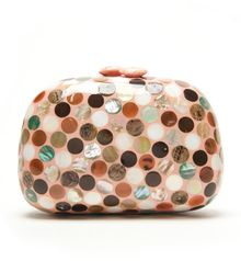 Serpui Marie Dot Mother Of Pearl Oval Clutch - Lyst