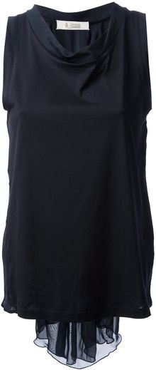 Dondup Pleated Panel Top - Lyst