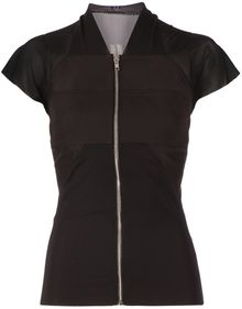 Rick Owens Panelled Fitted Blouse - Lyst