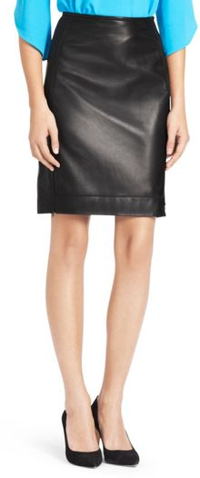 Diane Von Furstenberg Rita Two Leather Pencil Skirt - Lyst