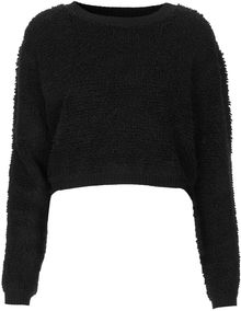 Topshop Loop Knit Cropped Jumper - Lyst