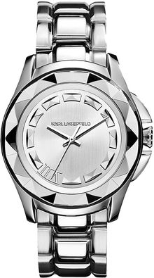 Karl Lagerfeld Stainless Steel Pyramid Watch - Lyst