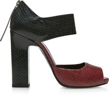 Pierre Hardy Burgundy and Dark Green Water Snake Open Toe Mary Jane - Lyst
