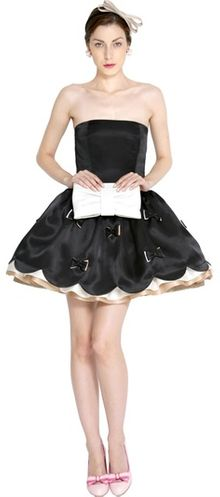 RED Valentino Silk Organdy Dress - Lyst