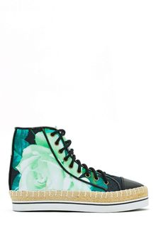 Nasty Gal Shakuhachi Black Rose High Top Sneaker - Lyst