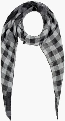 Neil Barrett Black and Grey Engineered Lumberjack Bandana Scarf - Lyst