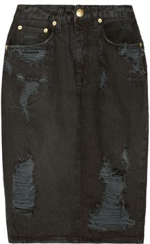 Ksubi Distressed Denim Skirt - Lyst
