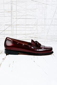 Bass Weejuns Layton Tassel Loafer in Burgundy - Lyst