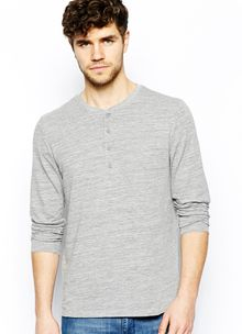 Asos Long Sleeve Grandad in Textured Fabric - Lyst