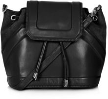 Topshop Suede and Leather Duffle Bag - Lyst