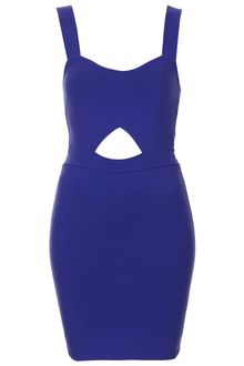 Topshop Mini Cut Out Bodycon Dress - Lyst