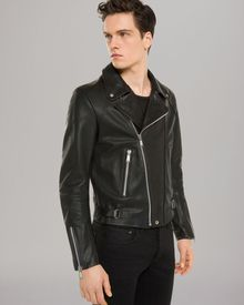 Sandro Norton Leather Jacket - Lyst