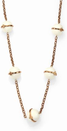 Tory Burch Melodie Logo Station Necklace - Lyst