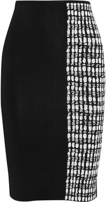 Roland Mouret Poplar Stretchknit Pencil Skirt - Lyst