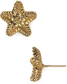 Kate Spade Starfish Stud Earrings - Lyst