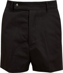 Rick Owens Textured Cotton Shorts - Lyst