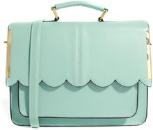 Asos Satchel Bag with Scallop Bar Detail - Lyst