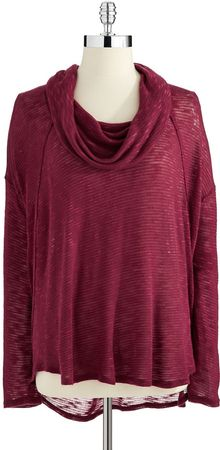 DKNY Cowl Neck Lightweight Sweater - Lyst