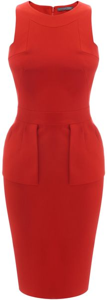 Alexander McQueen Geometric Halter Pencil Dress - Lyst