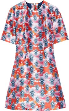 House Of Holland Printed Satintwill Dress - Lyst