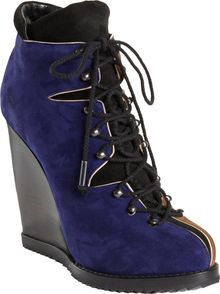 Pierre Hardy Colorblock Wedge Hiking Boot - Lyst