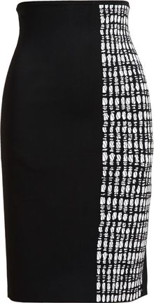 Roland Mouret Stretchknit Pencil Skirt - Lyst