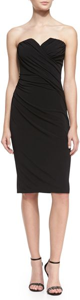 David Meister Strapless Beadedback Cocktail Dress Black - Lyst