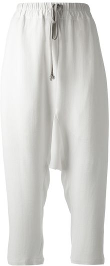 Rick Owens Drop Crotch Trouser - Lyst