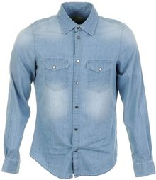 Versace Jeans Slim Denim Shirt - Lyst