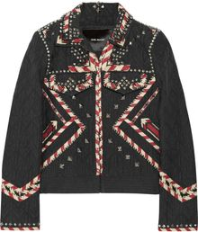 Isabel Marant Huston Embellished Denim Jacket - Lyst