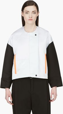 Roksanda Ilincic Oyster Grey and Black Bayliss Jacket - Lyst