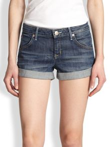 Hudson Hampton Cuffed Denim Shorts - Lyst
