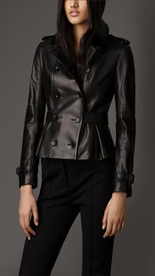 Burberry Lambskin Trench Jacket - Lyst