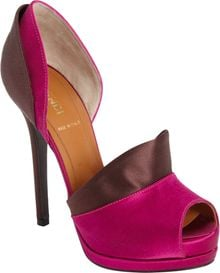 Fendi Layered Satin Dorsay Pump - Lyst