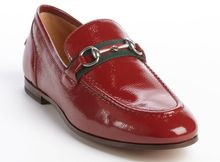 Gucci Rose Bed Patent Leather Signature Buckle Horsebit Loafers - Lyst