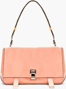 Proenza Schouler Rose Pink New Lamm Courier Bag - Lyst