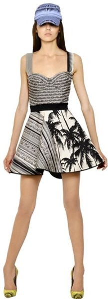 Fausto Puglisi Printed Silk Twill Dress - Lyst
