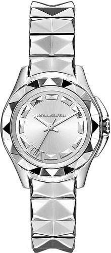 Karl Lagerfeld Stainless Steel Watch with Pyramid Stud Bracelet - Lyst