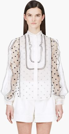 Chloé Embroidered Confetti Blouse - Lyst