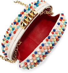 Christian Louboutin Mina Spiked Box Clutch Bag Multi - Lyst