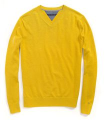 Tommy Hilfiger Cotton Cashmere V Neck Sweater - Lyst