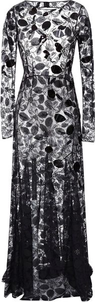 Nina Ricci Embroidered Lace Gown - Lyst