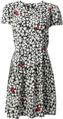 Sonia By Sonia Rykiel Heart Print Dress - Lyst