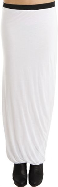 Enza Costa Fitted Maxi Skirt in White - Lyst