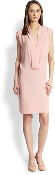 By Malene Birger Mentia Modern Elegance Wrap-effect Dress - Lyst