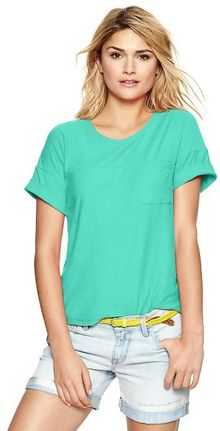Gap Cuffed Pocket T - Lyst