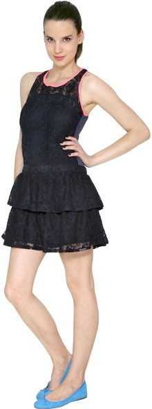 Superdry Cotton Lace and Jersey Dress - Lyst