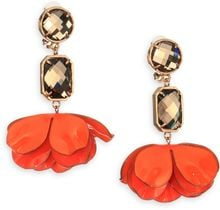 Tory Burch Pentier Flower Petal Clipon Drop Earrings - Lyst